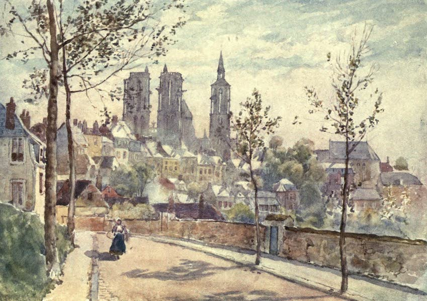 Cathedral Cities of France - Lâon from the Boulevards (1907)