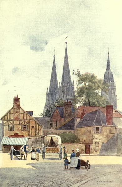 Cathedral Cities of France - A Street Corner, Bayeux (1907)