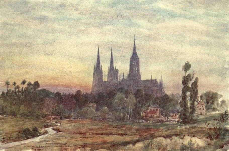 Cathedral Cities of France - Bayeux from the Meadows (1907)