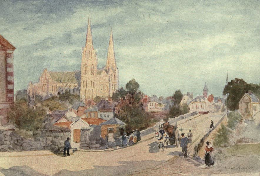 Cathedral Cities of France - Chartres from the North (1907)