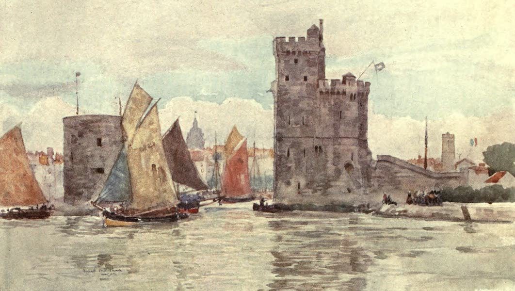 Cathedral Cities of France - Entrance to the Harbour, La Rochelle (1907)