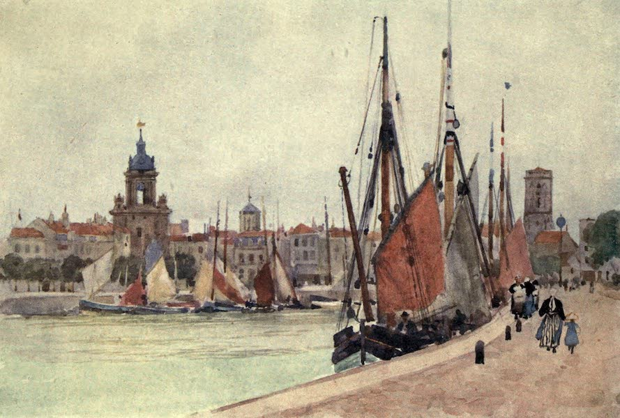 Cathedral Cities of France - The Harbour of La Rochelle (1907)