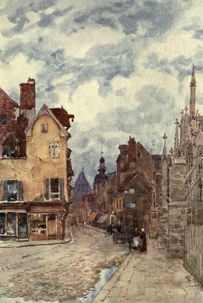 Cathedral Cities of France - A Street in Troyes (1907)