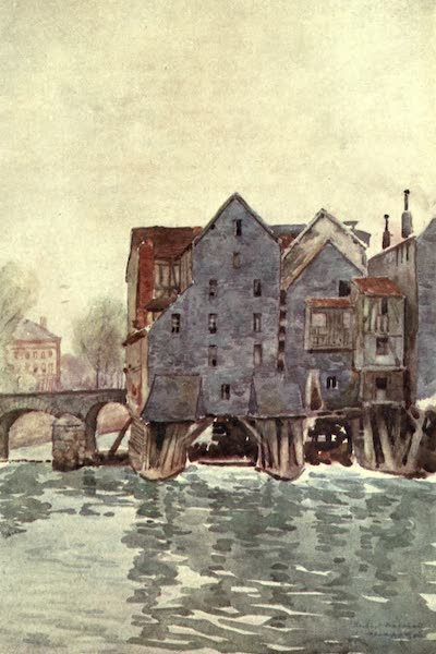 Cathedral Cities of France - The Old Mills at Meaux (1907)