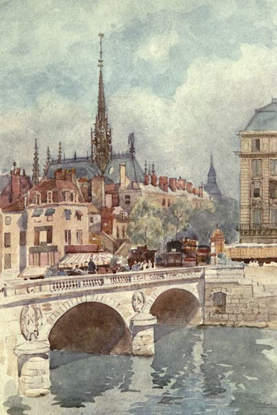 Cathedral Cities of France - Pont St. Michel and Ste. Chapelle, Paris (1907)