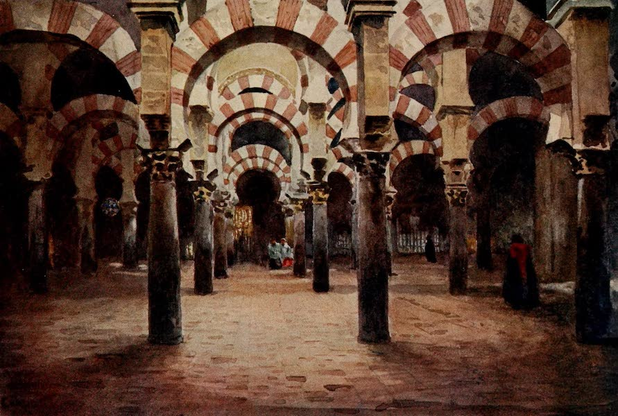 Cathedral Cities of Spain - Cordova. Interior of the Mesquita (1909)