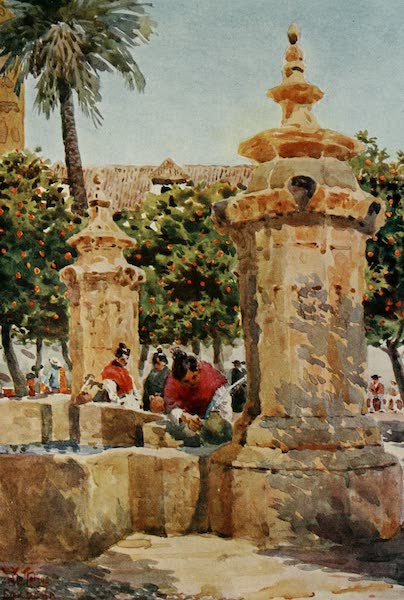 Cathedral Cities of Spain - Cordova. Fountain in the Court of Oranges (1909)