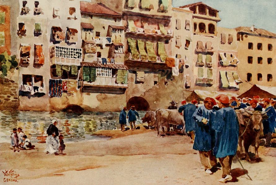 Cathedral Cities of Spain - Gerona. The Cattle Market (1909)