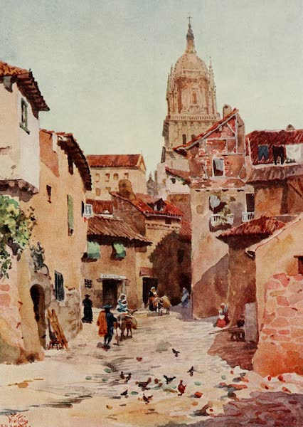 Cathedral Cities of Spain - Salamanca. An Old Street. (1909)