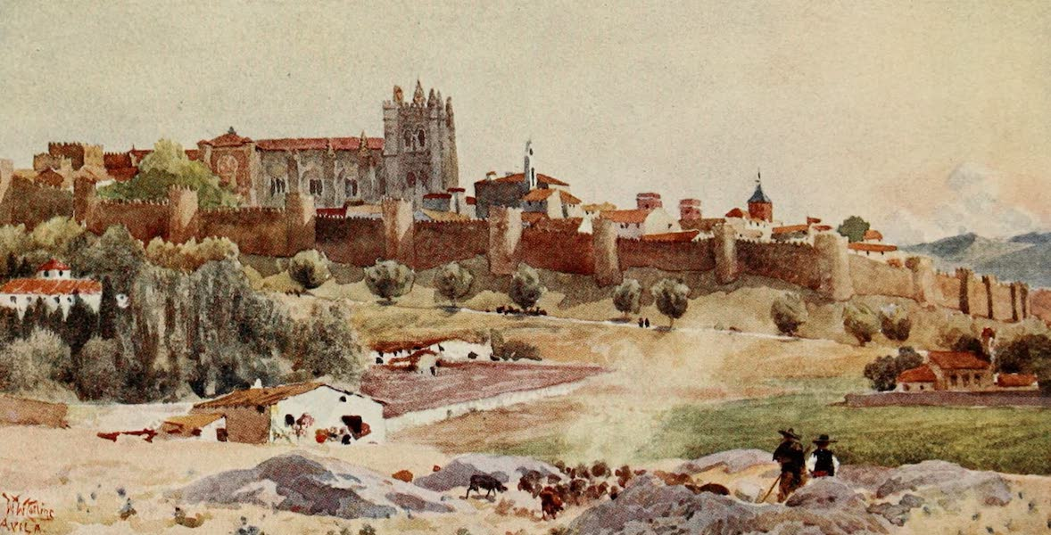 Cathedral Cities of Spain - Avila (1909)
