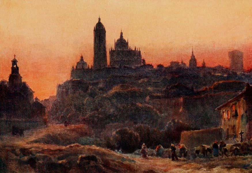 Cathedral Cities of Spain - Segovia at Sunset (1909)