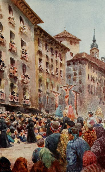 Cathedral Cities of Spain - Saragossa. Easter Procession (1909)