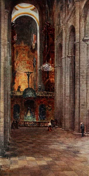 Cathedral Cities of Spain - Santiago. Interior of the Cathedral (1909)
