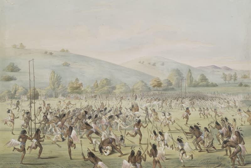 Catlin's Indian Portfolio - Ball Play (1844)