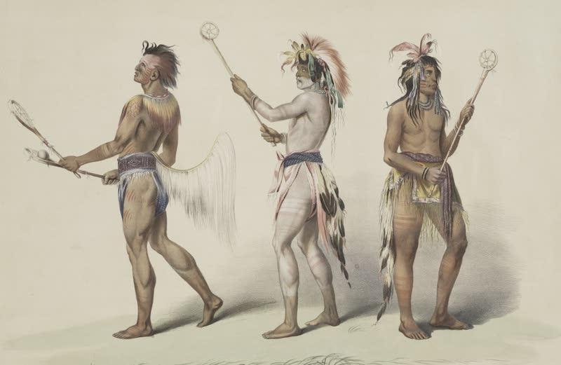 Catlin's Indian Portfolio - Ball Players (1844)