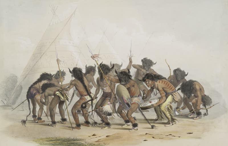 Catlin's Indian Portfolio - Buffalo Dance (1844)