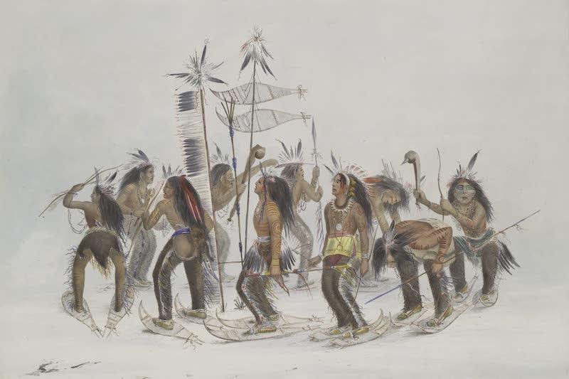 Catlin's Indian Portfolio - Snow Shoe Dance (1844)