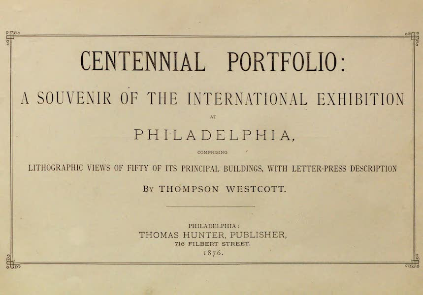 Centennial Portfolio - Title Page (1876)