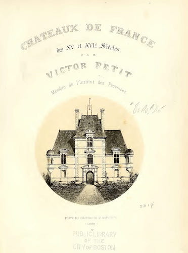 Aquatint & Lithography - Chateaux de France des XV et XVIe siecles