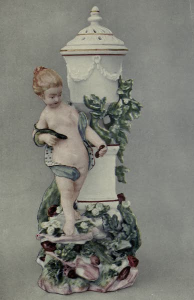 Chelsea and Chelsea-Derby China - Perfume Vase with Statuette (1909)