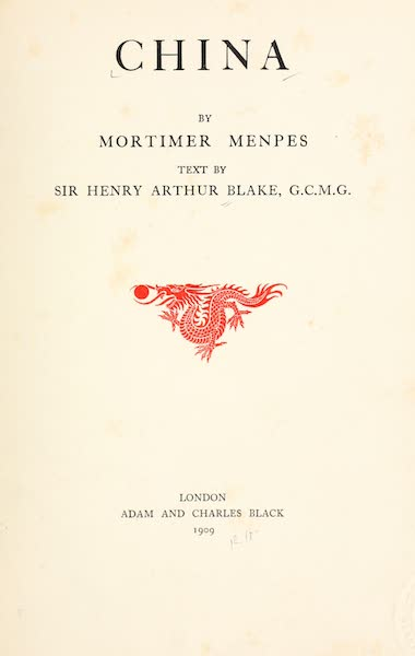 China, by Mortimer Menpes - Title Page (1909)