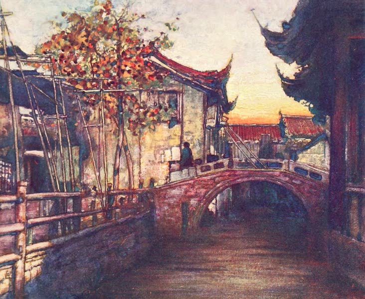 China, by Mortimer Menpes - A Quiet Canal (1909)