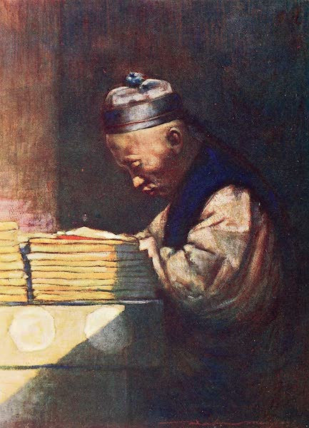 China, by Mortimer Menpes - A Student (1909)