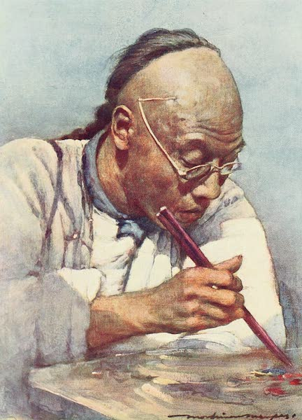 China, by Mortimer Menpes - Chopsticks (1909)