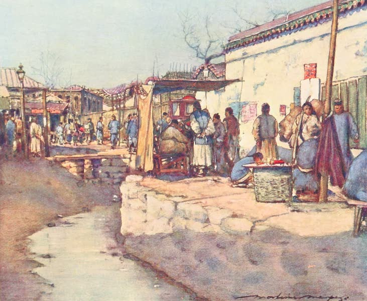 China, by Mortimer Menpes - On the Way to Market (1909)