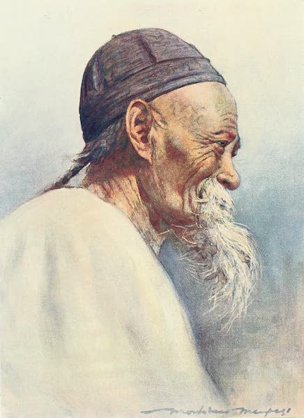 China, by Mortimer Menpes - A Grandfather (1909)