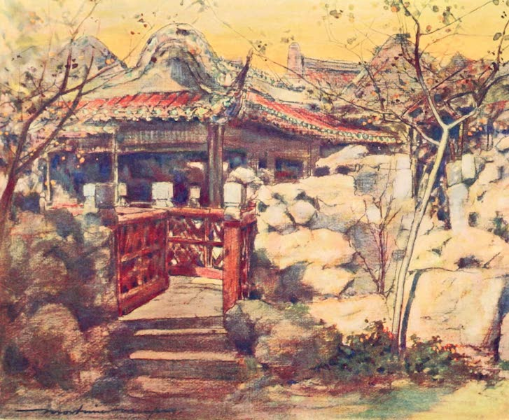 China, by Mortimer Menpes - A Summer House (1909)