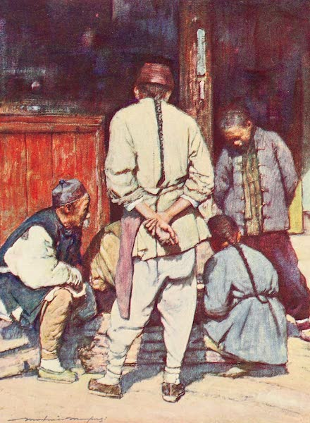 China, by Mortimer Menpes - A Quiet Game of Draughts (1909)