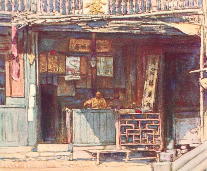 China, by Mortimer Menpes - Waiting for Customers (1909)