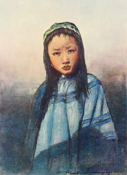 China, by Mortimer Menpes - A Chinese Girl (1909)