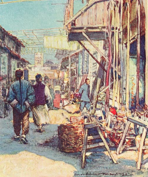 China, by Mortimer Menpes - A Typical Street Scene (1909)