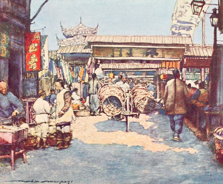 China, by Mortimer Menpes - A Temple (1909)