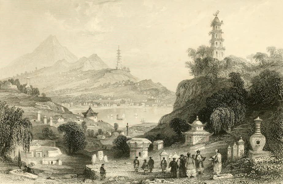 China in a Series of Views Vol. 1 - Lake See-hoo, and Temple of the Thundering Winds, from the Vale of Tombs (1843)