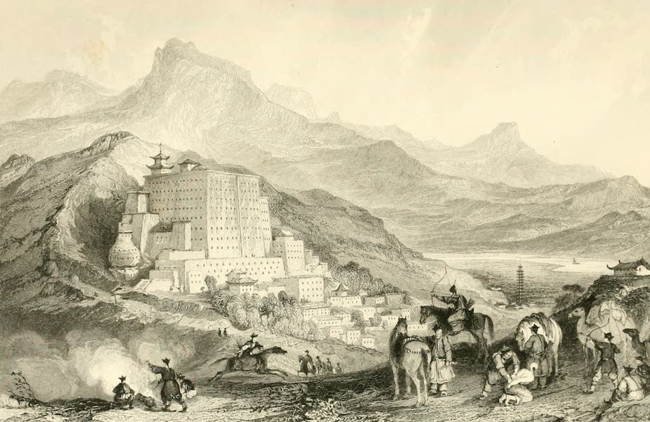 China in a Series of Views Vol. 1 - The Poo-Ta-La, or Great Temple near Zhehol, Tartary (1843)