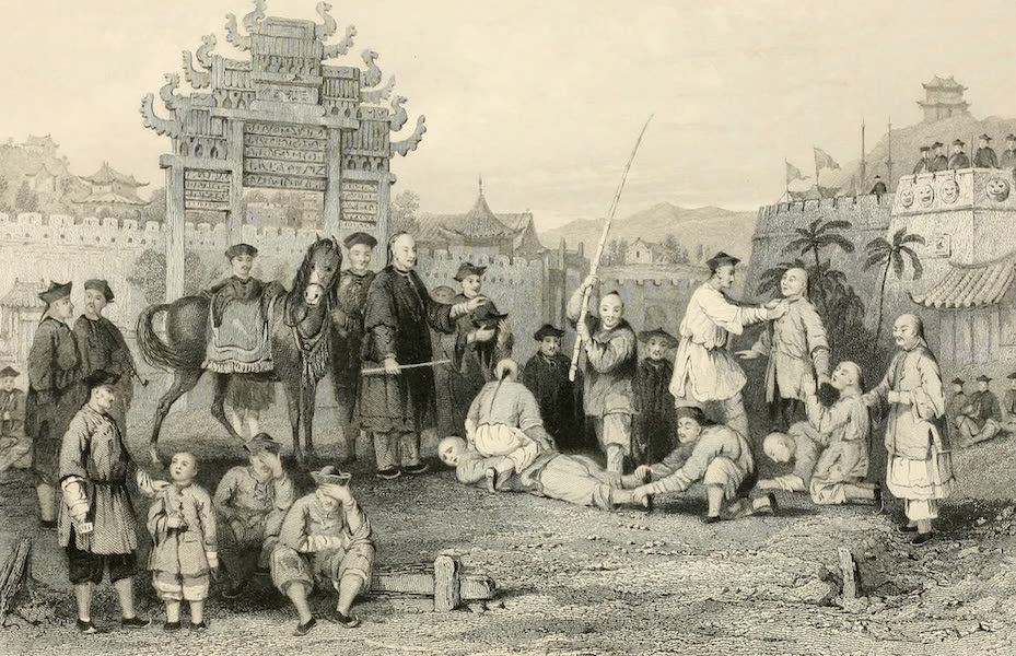 China in a Series of Views Vol. 1 - Punishment of the Pan-Tze, or Bastinado (1843)