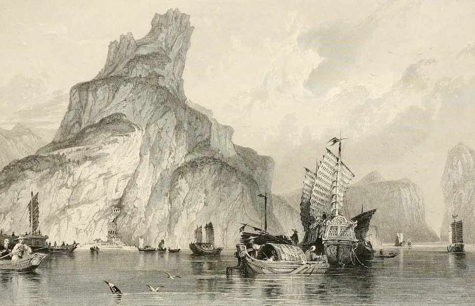 China in a Series of Views Vol. 1 - Temple of the Bonzes in the Quang-Yen Rock (1843)