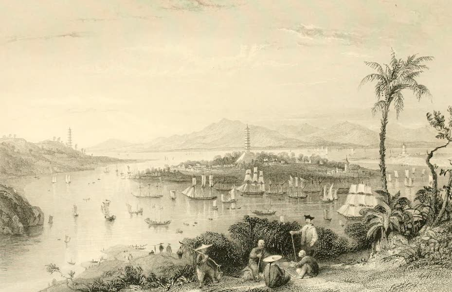 China in a Series of Views Vol. 1 - Whampoa, from Dane's Island (1843)