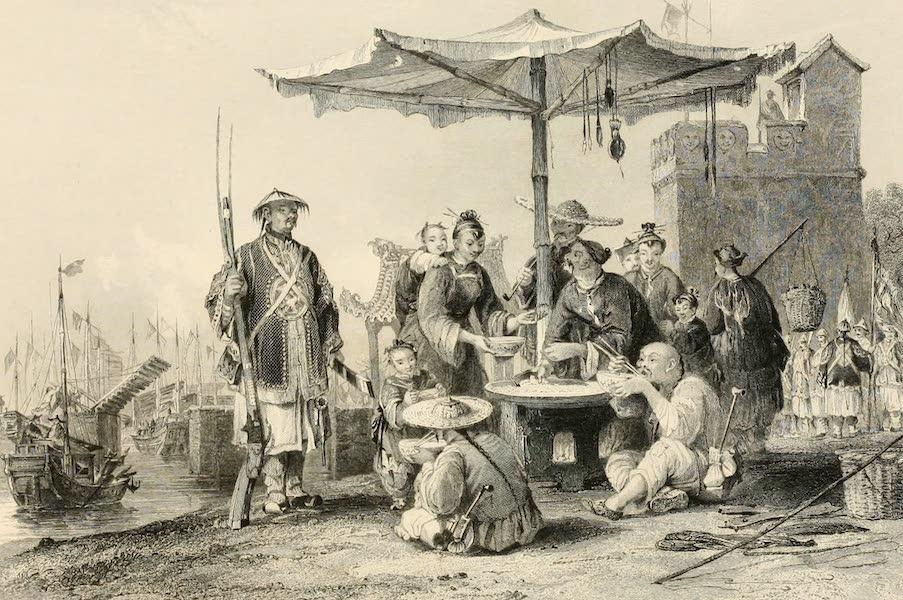 China in a Series of Views Vol. 1 - Rice Sellers at the Military Station of Tong-Chang-Foo (1843)