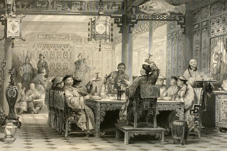 China in a Series of Views Vol. 1 - Dinner Party at a Mandarin's House (1843)