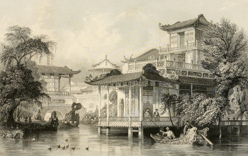 China in a Series of Views Vol. 1 - House of a Chinese Merchant, Canton (1843)