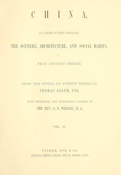 China in a Series of Views Vol. 2 - Title Page (1843)