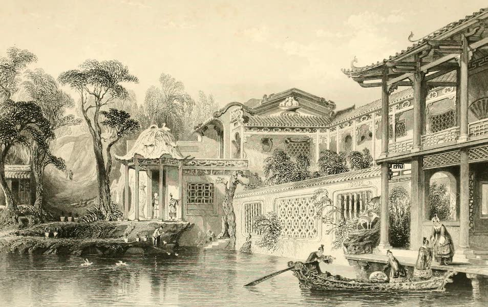 China in a Series of Views Vol. 2 - House of Conseequa, a Chinese merchant, near Canton (1843)