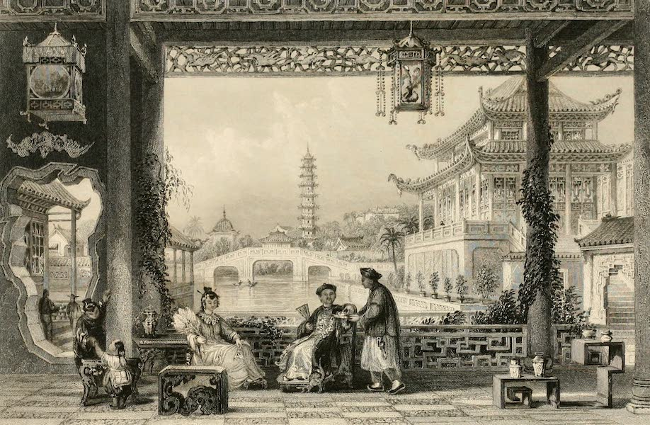 China in a Series of Views Vol. 2 - Pavilion and Gardens of a Mandarin, near Peking (1843)