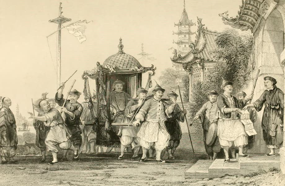 China in a Series of Views Vol. 2 - A Mandarin paying a Visit of Ceremony (1843)