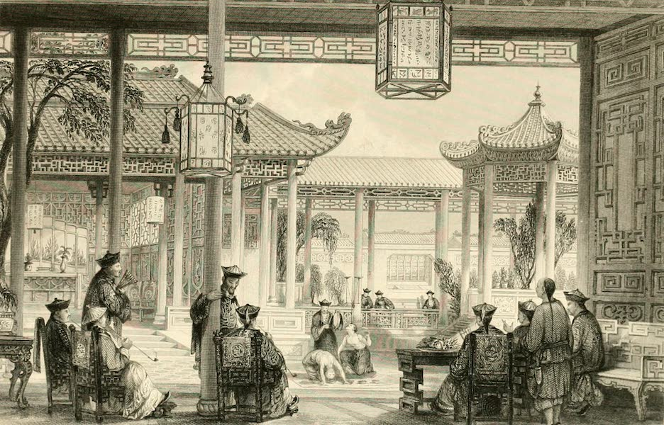 China in a Series of Views Vol. 2 - Jugglers exhibiting in the Court of a Mandarin's House (1843)
