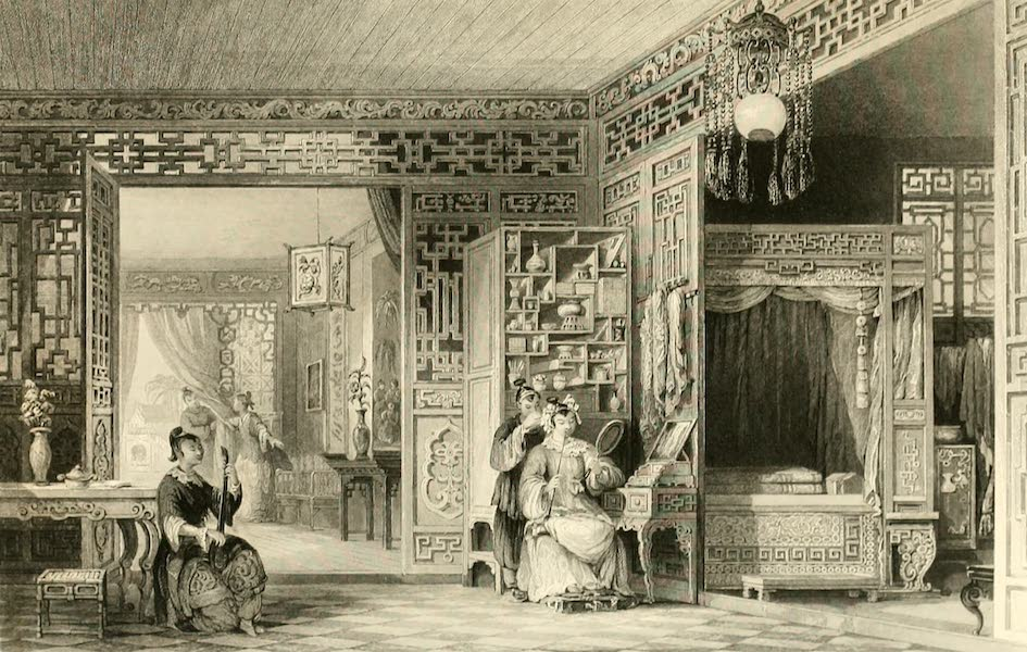 China in a Series of Views Vol. 2 - Boudoir and Bedchamber of a Lady of rank (1843)